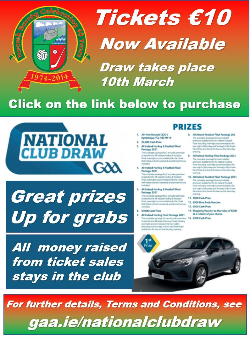 Ticket Naomh Barrog final