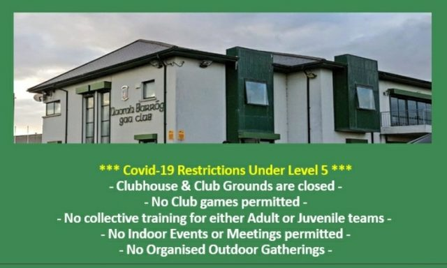 GAA Covid-19 Restrictions Under Level 5