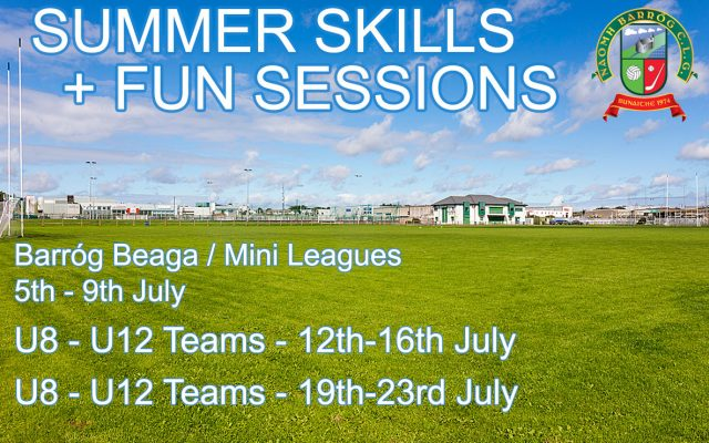 Summer Skills and Fun Sessions Information and Application Forms